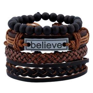Brown Leather Layer Bracelet